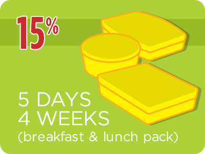 5-Day 4 Weeks Breakfast & Lunch Package