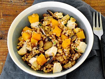Grilled Chicken & Butternut Squash Risotto