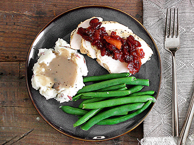 Roasted Turkey w/Apple Cranberry Relish