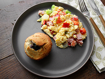 Low Carb Muffin Breakfast
