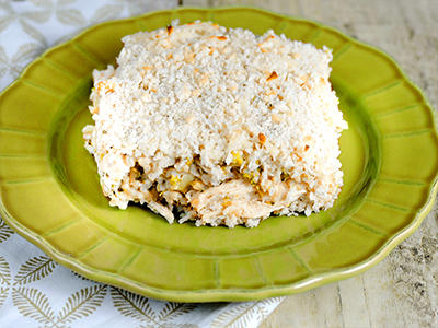 Low-Carb Cheesy Chicken & Rice Casserole