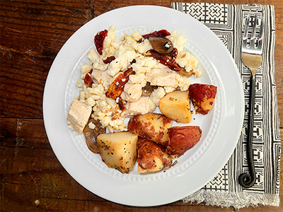 Chicken & Goat Cheese Scramble