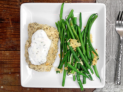 Almond Crusted Parmesan Cod